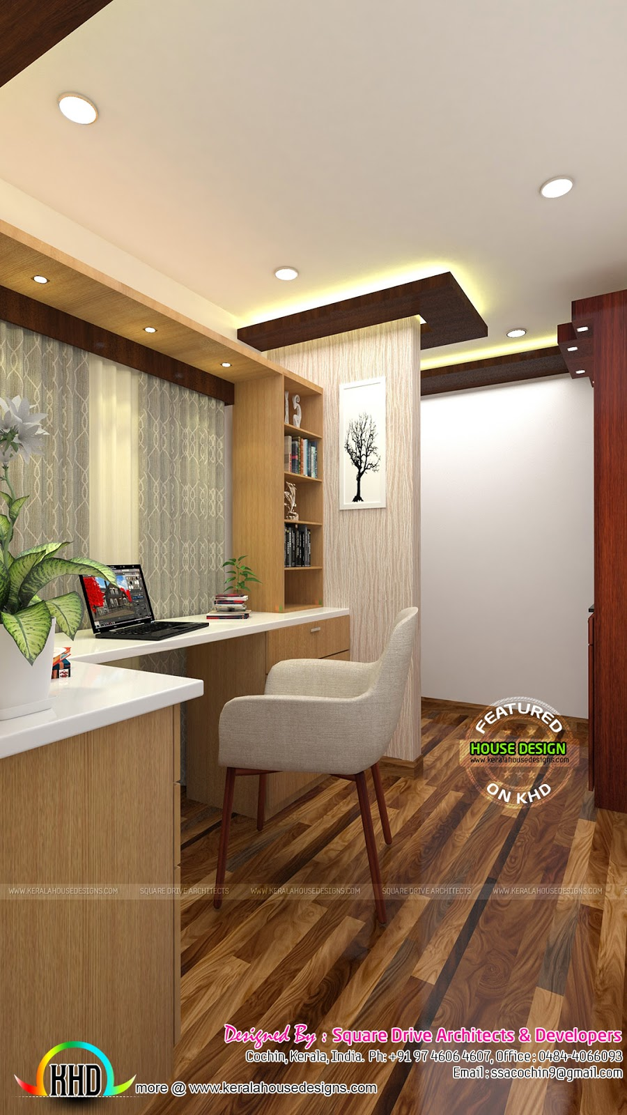 House Study Room: Bedroom, Living, Prayer Room And Study Room