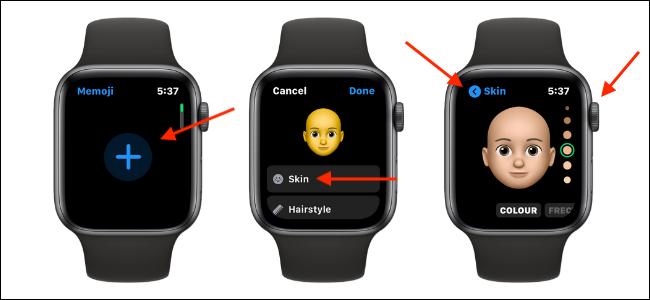 قم بإضافة وتخصيص Memoji على Apple Watch