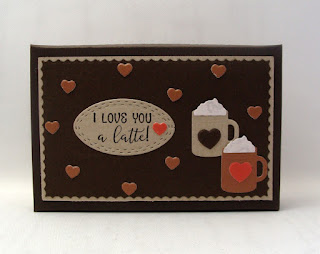 Our Daily Bread Designs, Giving Gift Card Box Dies, the Pierced Ovals, A Hug in a Mug Stamp Die Duo, Mini Hugs and Mugs dies, and Latte Love Paper Pack, designed by Chris Olsen