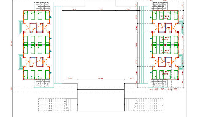 Jasa Gambar Desain Pondok Pesantren  Koja 2020