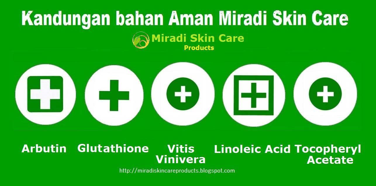 Bahan Aktif Miradi Skin Care