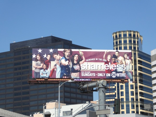 Shameless season 7 Showtime billboard