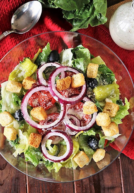 Bowl of Copycat Olive Garden Salad Image