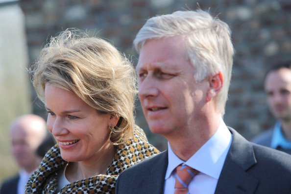 Crown Princess Mathilde and Crown Prince Philippe of Belgium visit the educational center Paddenbroek