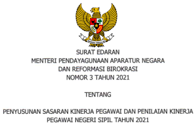 SE Penyusunan SKP Versi 360 Tahun 2021
