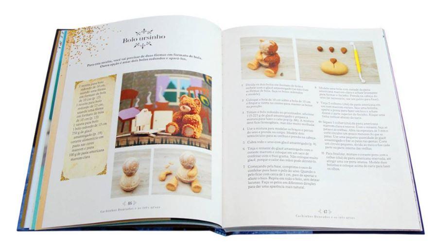 Livro Receitas de Contos de Fadas, receitas de bolos inspirados em contos de fadas