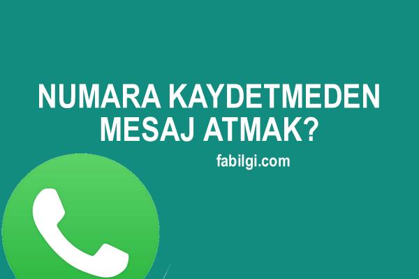 Whatsapp Kaydetmeden Mesaj Atma Uygulaması İndir 2021