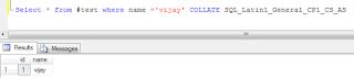 Check Case-Sensitivity in SQL Server