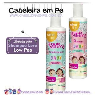Shampoo e Condicionador Tô de Cachinho Baby - Salon Line