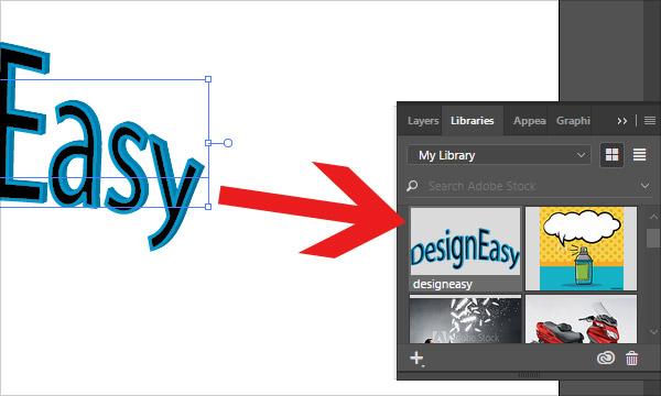 Drag artwork onto libraries panel