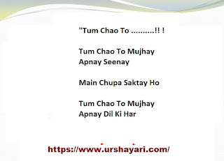 Tum Chao To  Tum Chao To Mujhay Apnay Seenay