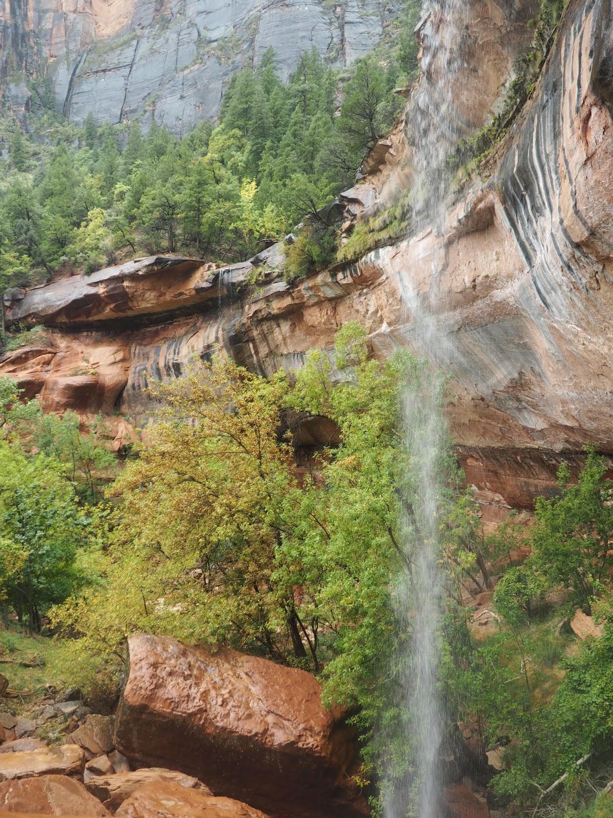 Waterfall in Zion National Park, Utah