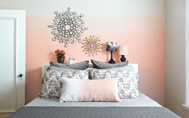 Como pintar paredes en degrade - Pintar facil paredes ...