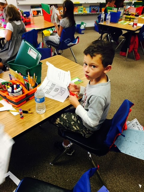writing centers; work on writing;  first grade