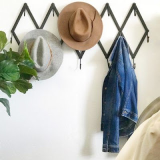 accordion hanger and hats
