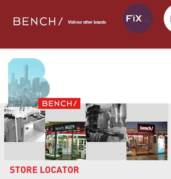 List of Bench Branches (Store Locators)