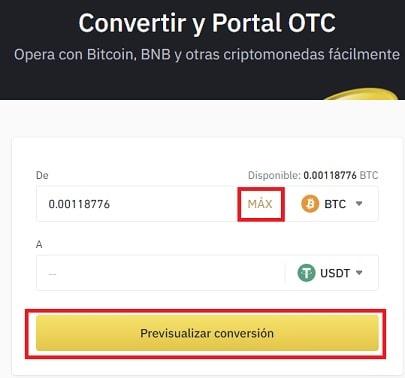 Comprar CREDITS (CS) Binance con USDT Y Bitcoin
