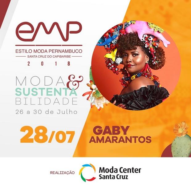 Cantora e apresentadora Gaby Amarantos participará do EMP 2018