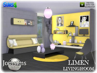 Limen Living room Limen Гостиная часть 2 для The Sims 4 диван, часть 2 диван. подушки деко для дивана. Misc Deco Furnitur. настенная роспись х 2. полка деко 1. полка деко2. настенная скульптура. живой стул. кофейный столик. DVD-плеер деко. тот же современный стиль. Автор: jomsims