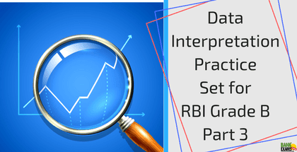 Data Interpretation Practice Set for RBI Grade B Part 3