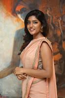 Eesha Rebba in beautiful peach saree at Darshakudu pre release ~  Exclusive Celebrities Galleries 032.JPG
