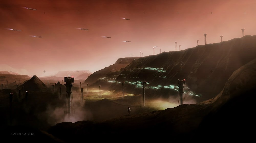 Mars colony in Season 4 of The Expanse