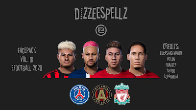 PES 2020 Facepack V1 by DizzeeSpellz
