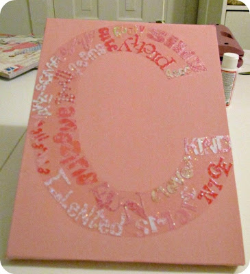 Mod Podge, Word Cloud, DIY Word Cloud, DIY Wall Art, Decoupage, Silhouette SD project