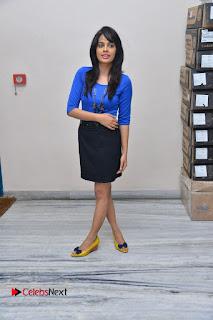 Actress Nandita Swetha Stills in Black Mini Skirt at Ekkadiki Potavu Chinnavada Movie Special Show  0063.JPG
