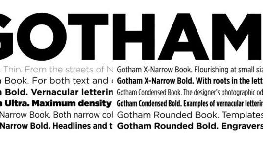 gotham black font family free download