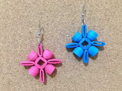 simple quilling earring designs
