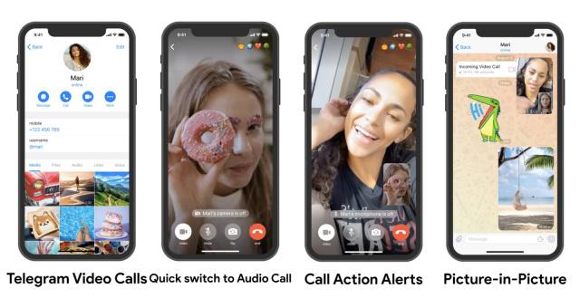 Ya esta disponible las videollamadas individuales de Telegram en Android e iOS
