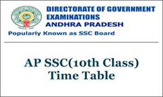 AP 10th Class Exam Time Table 2021