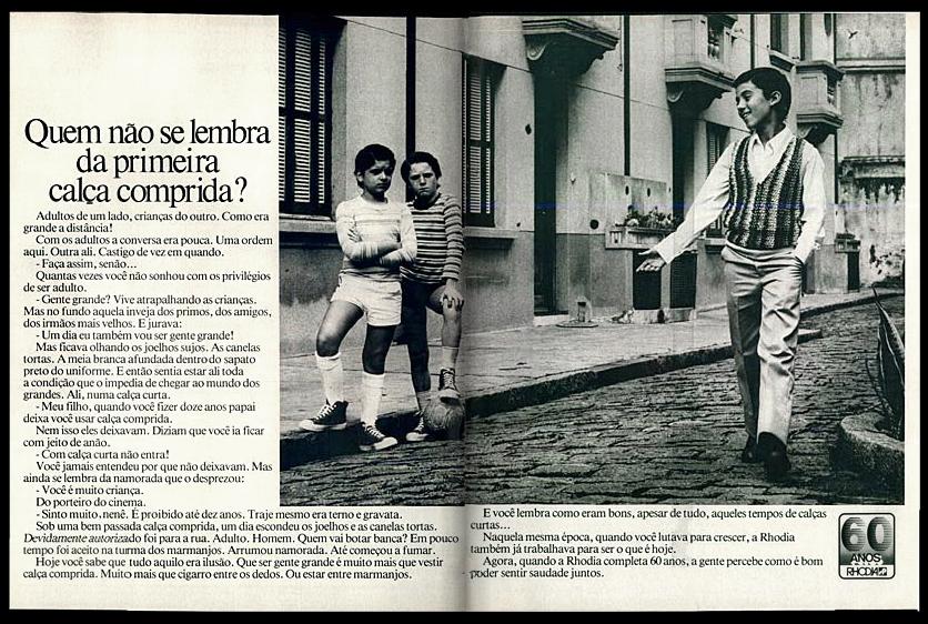 Anúncio comemorativo aos 60 anos da Rhodia no Brasil