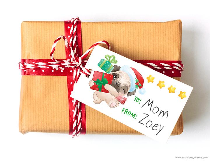 Free Printable Christmas Dog Gift Tags