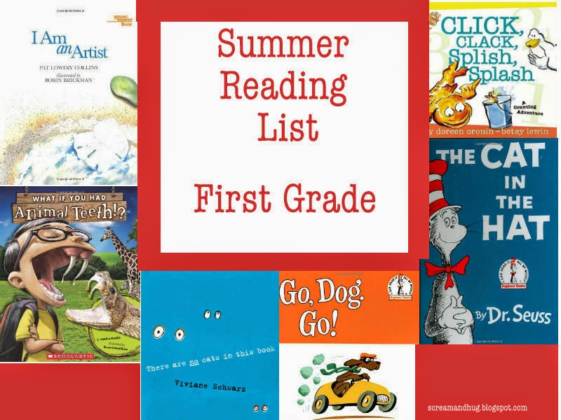 first grade, reading list, summer reading, summer reading program