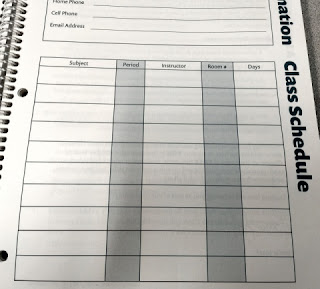 Order Out of Chaos Academic Planner class page
