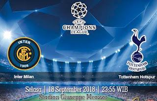 Prediksi Inter Milan vs Tottenham Hotspur 18 September 2018