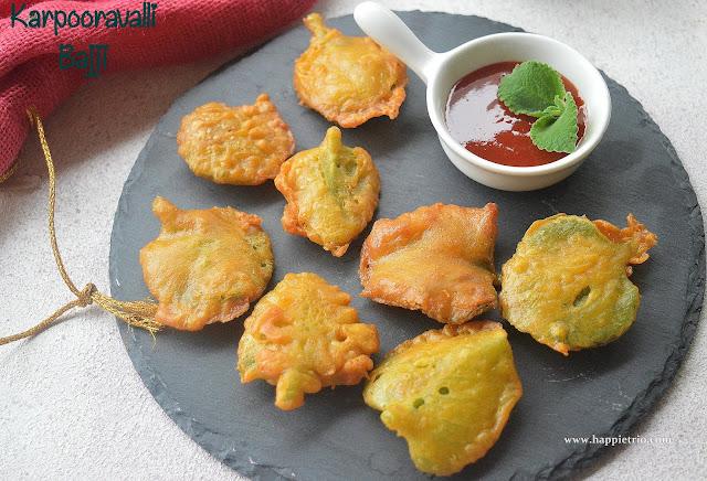 Karporavalli Bajji Recipe | Ajwain Leaves Bajji | Oregano Fritters