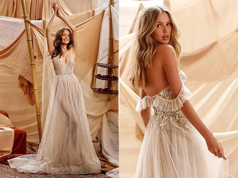 Свадебное платье в стиле бохо шик 2021