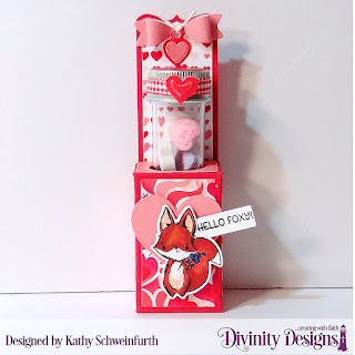 Stamp/Die Duos: Hello Foxy Custom Dies: Triple Step with Layers, Mini Tags, Test Tube Treat, Layering Hearts Paper Collection: Sweet Hearts
