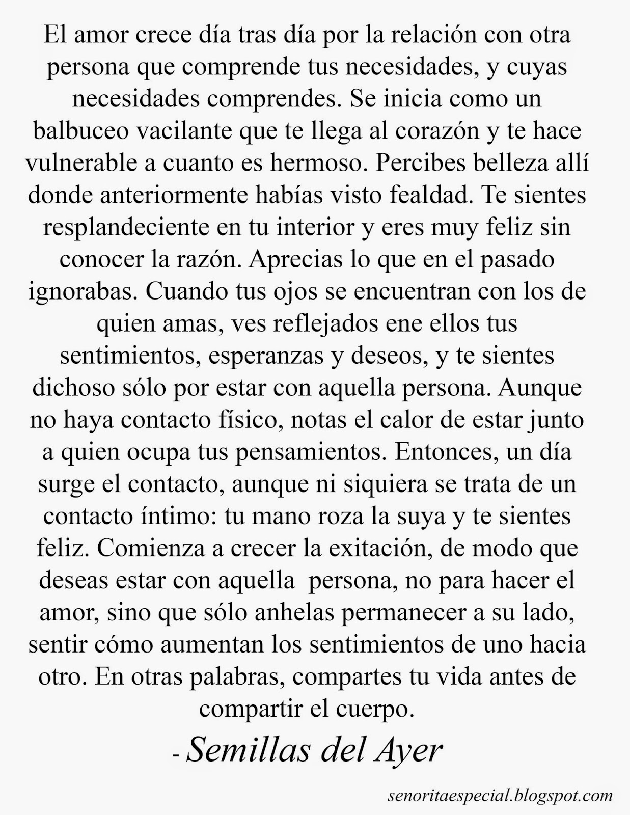Senorita Especial Resena Literatura Semillas Del Ayer De V C