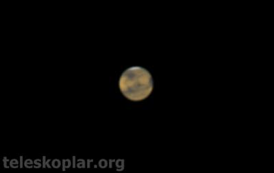 teleskop ile mars gözlemi