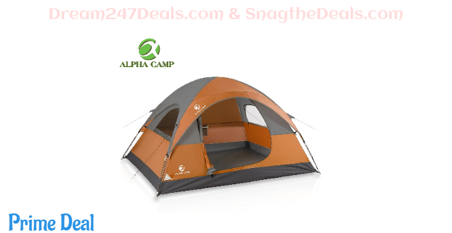 ALPHA CAMP 3 Person Camping Dome Tent 35%OFF