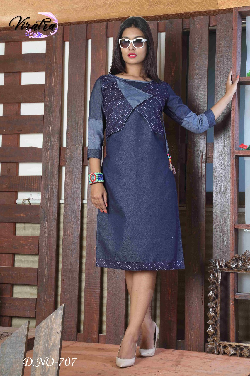 FASHION 3-New Arrival Designer Denim Kurti