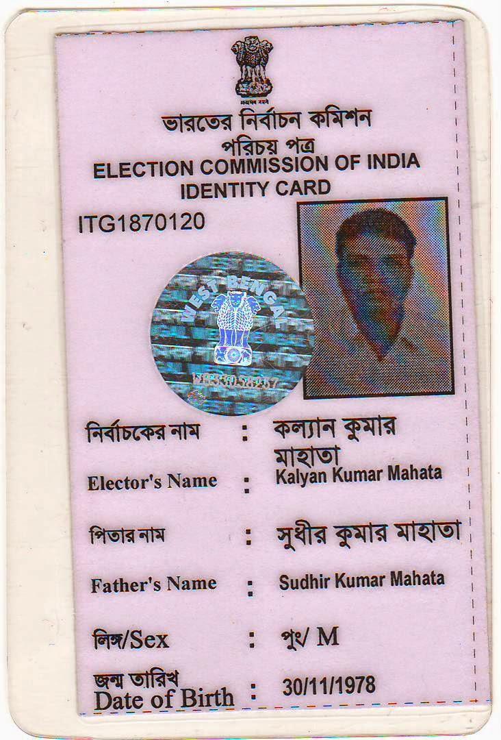 kalyan kumar mahata  election commission of india voter