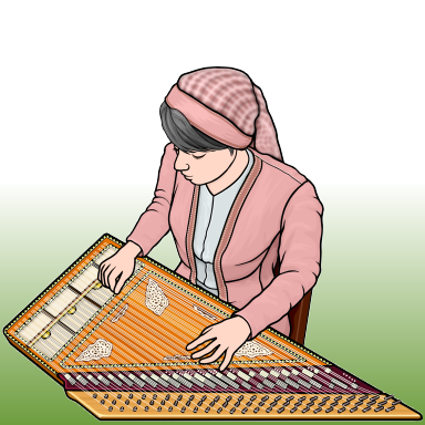 Arab qanun(kanun) player