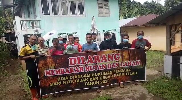 Masyarakat Bangko Berikan Dukungan Dalam Pencegahan Karhutla