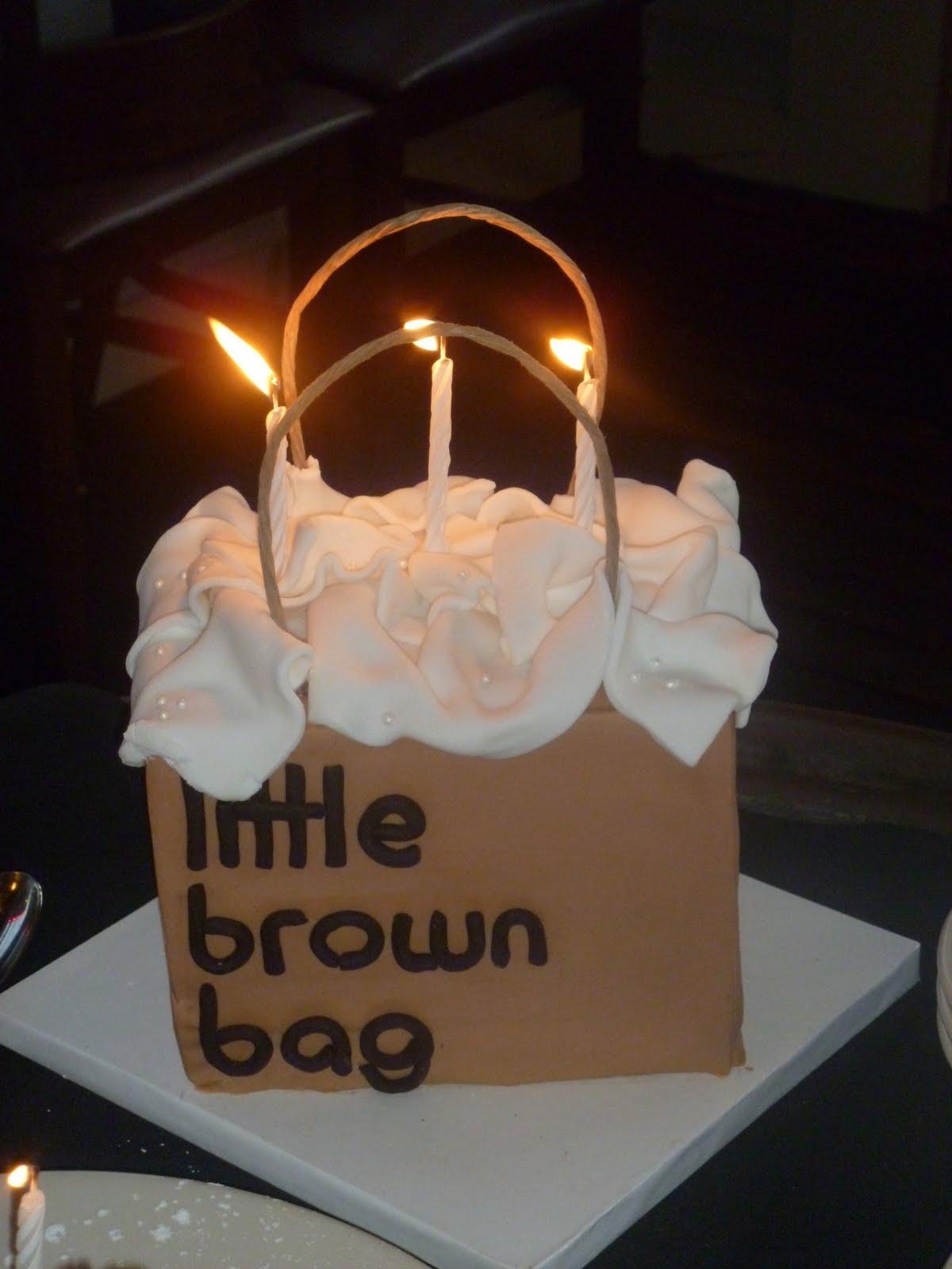 Your Happy Baker Little Brown Bag Birthday Cake