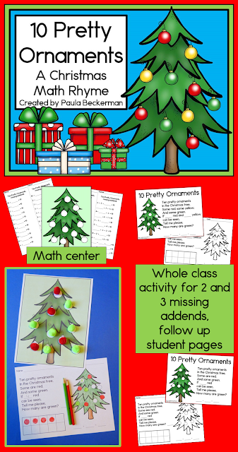 https://www.teacherspayteachers.com/Product/Christmas-Math-Ten-Pretty-Ornaments-Missing-Addends-2187641